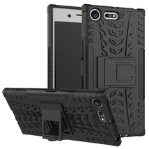 Armor Shockproof Hybrid Kickstand Case Cover For Sony Xperia XZ Premium - Black  - $4.99