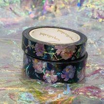 SEALED Papergeek Paper Geek 2x Black Floral Constellation Washi Tape 33' Each image 5