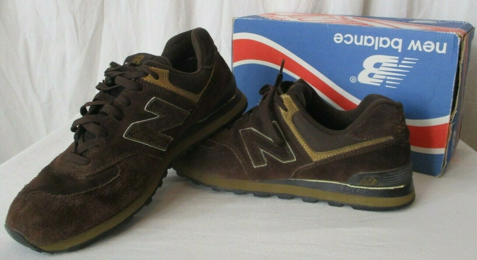New Balance Men 10 M574BS Encap Sneakers Shoes Chocolate Brown