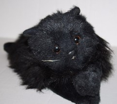 "TY Classic LICORICE CAT 1987 Black Persian 15"" Plush Stuffed Lying Soft ... - $68.64"