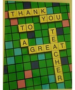 """NobleWorks Jumbo Thank You To A Great Teacher Card 8.5"""" × 11"""" - $2.26"""