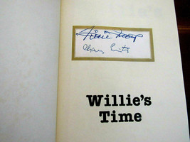 WILLIE MAYS GIANTS METS HOF SIGNED AUTO WILLIE'S TIME HC BOOK 1979 1ST E... - $296.99