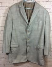 Como Silk Mens Three Button Sport Coat Size Medium Large Tailored Coat  - $19.99
