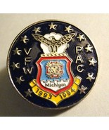 VFW Michigan Lapel Pin - Vintage 1993 USA Veterans Of Foreign Wars Milit... - $24.74