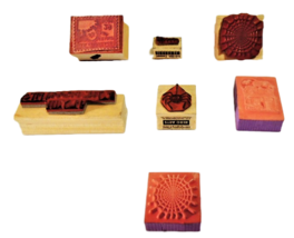 HALLOWEEN STAMPS! Set of 7 Halloween Wood/Foam Mounted Rubber Stamps image 2