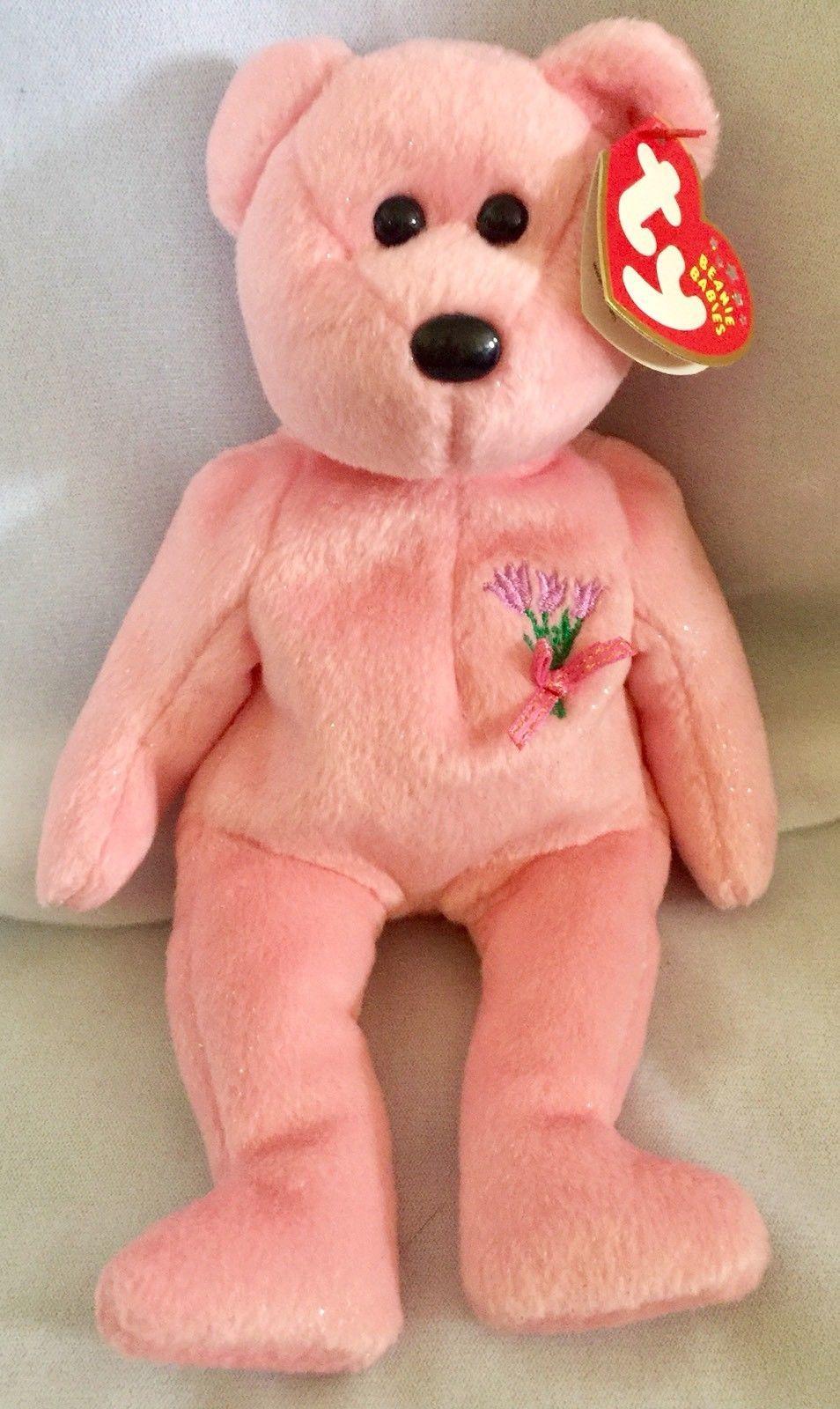 "5e9c2822e63 8"" Ty Beanie Baby Mum The Pink Bear Plush and 22 similar items. S l1600"