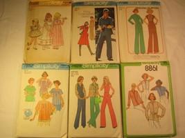 Choice 1970's Simplicity Pattern Miss Size 6 8 10 12 22 Dress Jumpsuit Halter... - $5.76+