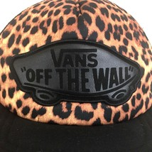 VANS Off The Wall Baseball Cap Hat Leopard Black Mesh Snapback Skaters Cap - $29.69