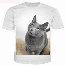 Surprised cats t-shirt fluffy cat t shirts women men 3d summer tee shirt - $29.90