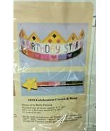 Creative Circle Rainbow Birthday Star Heart Crown Wand Plastic Canvas Ki... - $25.00