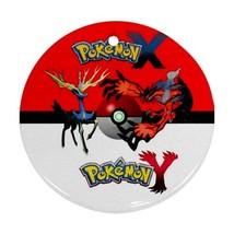 Anime Pokemon X & Y Yveltal Pokeball Round Procelain Ornament Christmas - $3.95