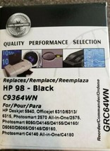Commander HP 98 Ink Cartridge Deskjet Officejet Remanufactured BLACK Ink... - $10.30