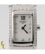 Longines Donna Acciaio Inox Dolce Vita Quarzo Orologio Diamante Quadrante & - $1,509.76