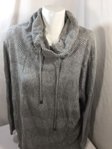 lane bryant Women Sweater Cotton Relaxed  Gray Long Sleeve Size 14/16 Kn... - $21.51
