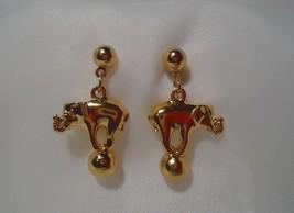 Avon Elephant On Ball Drop Dangle Pierced Earrings - $12.99