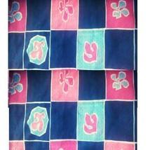 "Floral Block Fabric Seersucker 1/2"" x 42"".craft,quilting clothes home de... - $2.48"