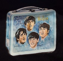 RARE Beatles 1965 Lunch Box Signature Photo Heavy Cotton Tee Shirt 3XL NEW - $24.74