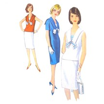 Vtg 60s Simplicity 5840 Misses Middy Shift Dress Blouse Slim Skirt Sailo... - $8.95