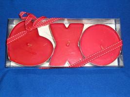 Hallmark Hugs & Kisses Set Of 3 Cinnamon Scented Candles Heart XO- Valen... - $11.99