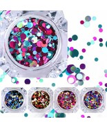 Nicole Diary 12 Boxes Nail Glitter Flakes Colorful Round Sequins Paillet... - $17.81