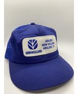 VTG New Holland K-Products Abilene TX Canvas Mesh Snapback Hat Trucker C... - $23.22