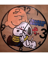 VINYL PLANET Wall Clock SNOOPY Home Record Unique Decor upcycled 12'' - $33.50