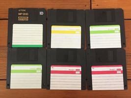 Vintage TDK MF-2HD 1.4MB Blank 3.5 Floppy Disks Formatted For Macintosh Mac - $19.99