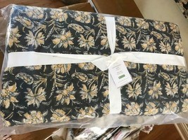 Pottery Barn Zoya Quilt Set Black Queen 2 Standard Shams Floral Kalamkari - $228.00