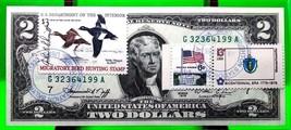 MONEY USA $2 DOLLARS 1976 CHICAGO FIRST DAY STAMP CANCEL ELKHART, IN GEM... - $194.31
