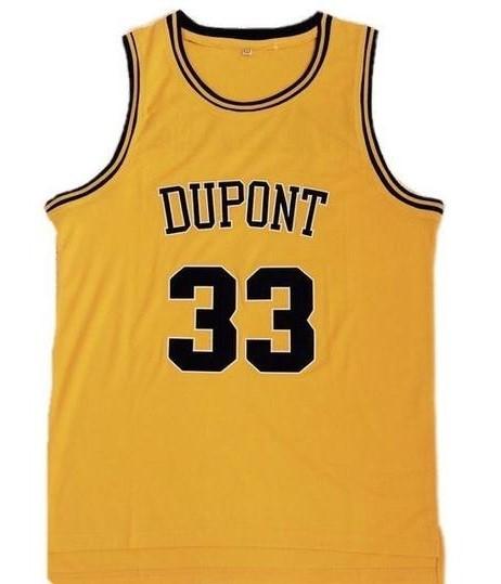 Jason williams dupont high school basketball jersey gold 1