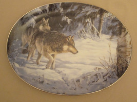 WOLF collector plate BROKEN SILENCE Persis Clayton Weirs WOLVES wildlife... - $23.92