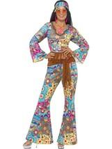 HIPPY FLOWER POWER COSTUME, 1960'S GROOVY FANCY DRESS, SMALL 8-10, WOMENS - $44.15