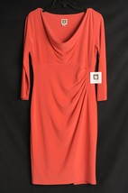 NEW Anne Klein Tuscan Cowl Knee-Length Stretch Sheath Dress Womens 4 $119 - $34.99