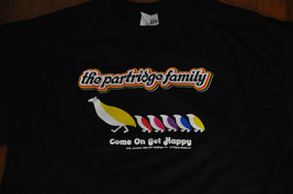 VTG 1998 The Partridge Family Logo Graphic black hanes 90s T Shirt Large L - $39.99