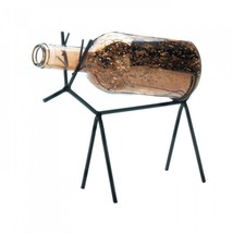 Glass Bottle Reindeer Lantern - $24.45