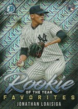 2019 BOWMAN CHROME MEGA BOX MOJO ROY FAVORITES JONATHAN LOAISIGA RC YANKEES - $1.89