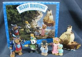 Hallmark Merry Miniatures Peter Pan 5 Piece Set 1997 Story Time Collection - $11.95