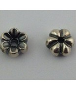 Authentic Trollbeads Mayflower Sterling Silver Charms 1pair for Earrings... - $38.63