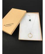 Handmade Brass Necklace,Sterling Silver Ball Necklace,Minimalist Orbit N... - $60.00