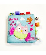 JJOVCE Soft Cloth Book For Newborn Baby 0-12 Month Crinkle W/ Tabs Educa... - $9.35