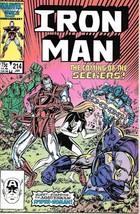 Iron Man Comic Book #214 Marvel Comics 1987 Near Mint New Unread - $5.94