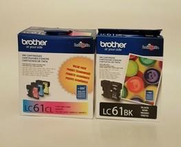 Brother LC61CL Ink Cartridge(CYAN, MAGENTA,YELLOW) + 1 LC61BK Black Cart... - $31.79