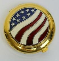 Estee Lauder Round America The Beautiful Flag Stars Lucidity Powder Compact MIBB - $89.99