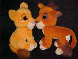 Disney Kissing Kiara & Kovu Plush Toys Simba's Pride The Lion King Matte... - $93.49