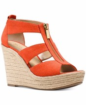Michael Kors MK Women's Premium Designer Damita Wedge Sandals Shoes Mimosa