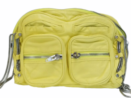 ALEXANDER WANG BRENDA Yellow Leather Crossbody Bag Purse Silver Hardware Dustbag image 3