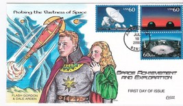 VASTNESS OF SPACE US FIRST DAY COVER #3409 COLLINS HAND PAINTED 2002  - $17.74