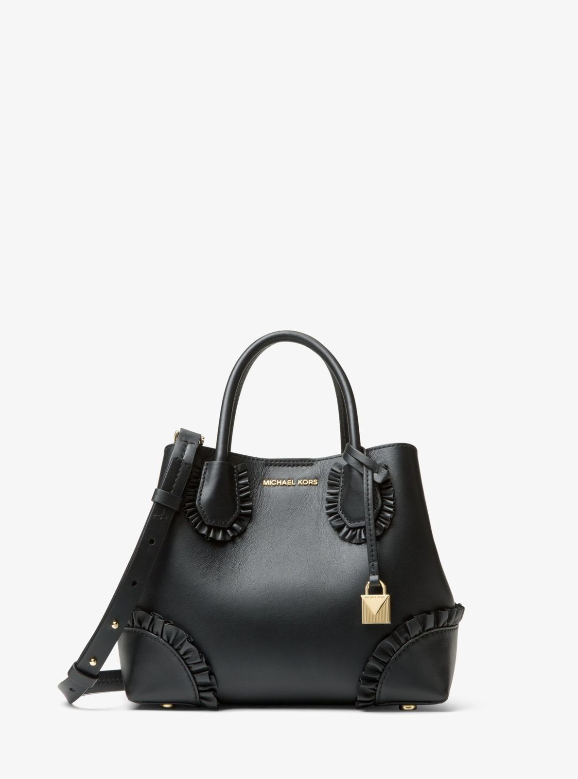 b1eed6cdea58 Michael kors Mercer Gallery Corner Ruffled and 50 similar items. 30s8gz5t5y  mercer gallery small ruffled leather satchel black 1
