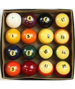 'New/ Old Stock Boxed Set of 16 c.1960's Billiard Balls' - $240.00