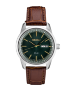 AUTHORIZED DEALER Seiko SNE529 Essentials Green Dial Brown Leather Strap... - $178.20